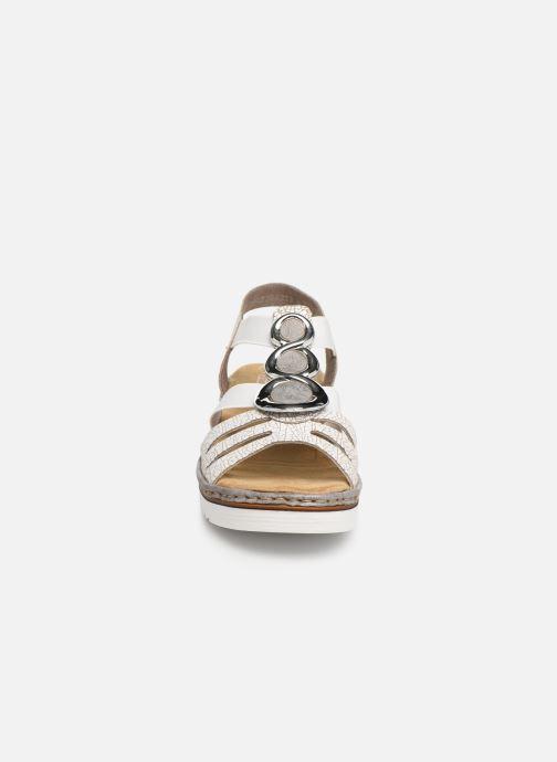 Sandales et nu-pieds Rieker Laora 679L4 Blanc vue portées chaussures