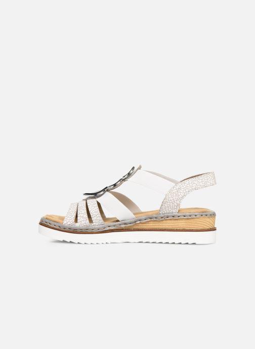 Sandales et nu-pieds Rieker Laora 679L4 Blanc vue face