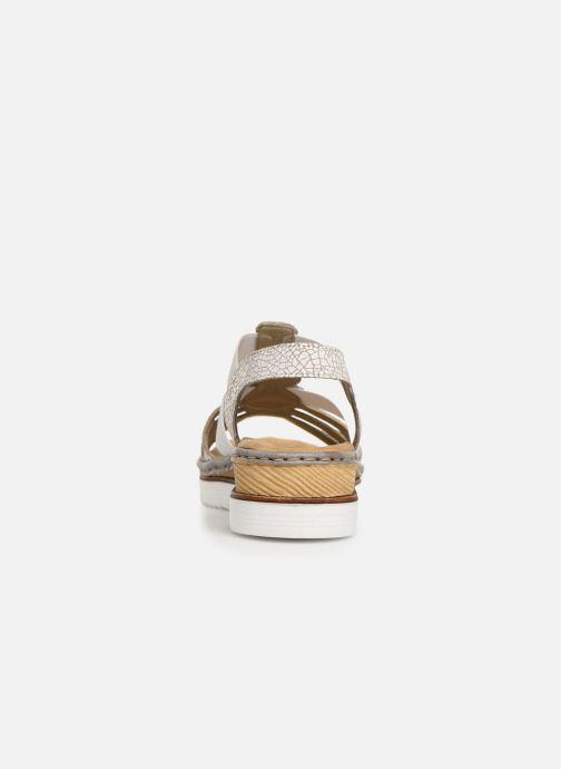 Sandales et nu-pieds Rieker Laora 679L4 Blanc vue droite