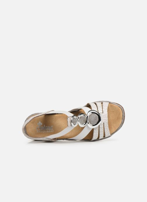 Sandals Rieker Laora 679L4 White view from the left