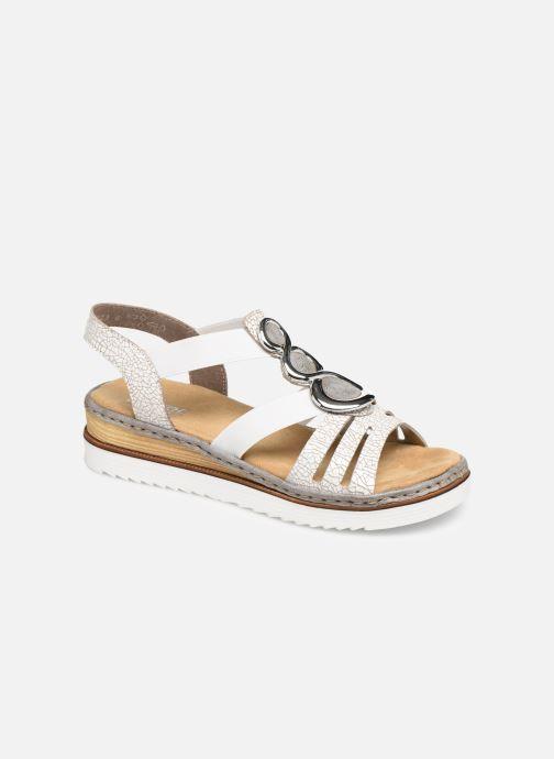 Sandales et nu-pieds Rieker Laora 679L4 Blanc vue détail/paire