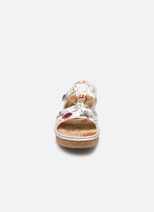 Mules et sabots Rieker Letty V03P9 Multicolore vue portées chaussures