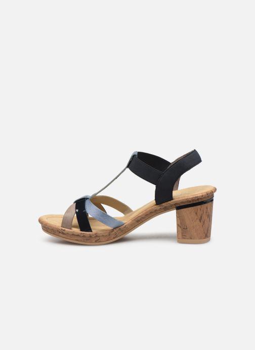 Sandali e scarpe aperte Rieker Mahe V4598 Azzurro immagine frontale