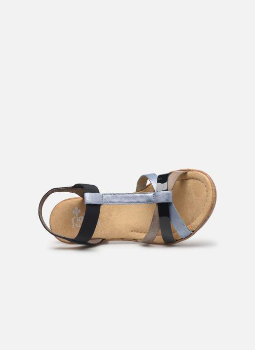 Sandali e scarpe aperte Rieker Mahe V4598 Azzurro immagine sinistra