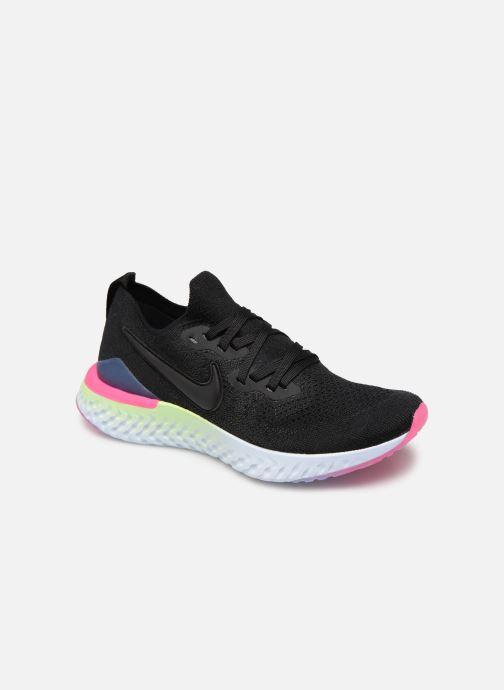 Zapatillas de deporte Nike W Nike Epic React Flyknit 2 Negro vista de detalle / par