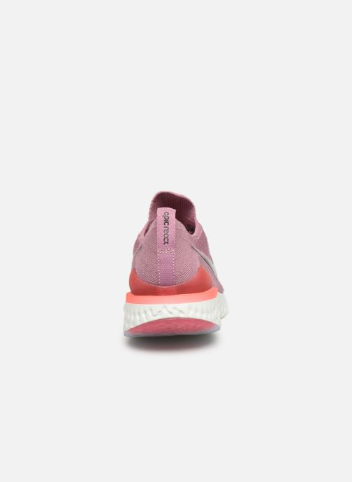 Sport shoes Nike W Nike Epic React Flyknit 2 Pink view from the right