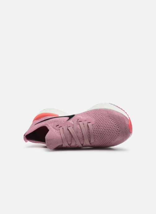 Sport shoes Nike W Nike Epic React Flyknit 2 Pink view from the left