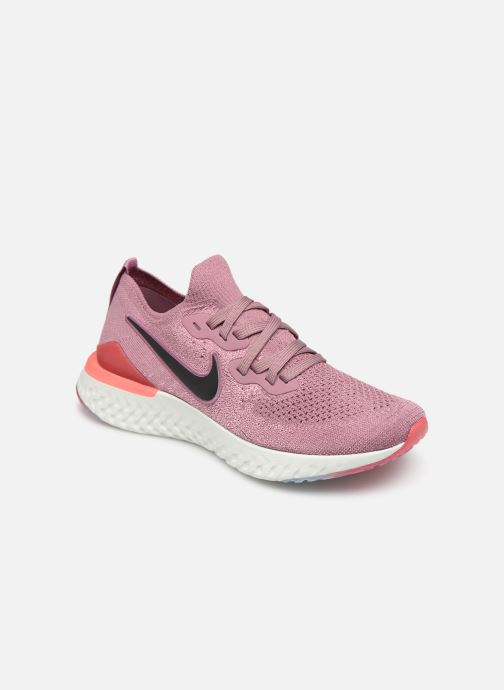big sale 99e0e 2532f Chaussures de sport Nike W Nike Epic React Flyknit 2 Rose vue détail paire