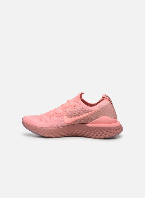 Chaussures de sport Nike W Nike Epic React Flyknit 2 Rose vue face