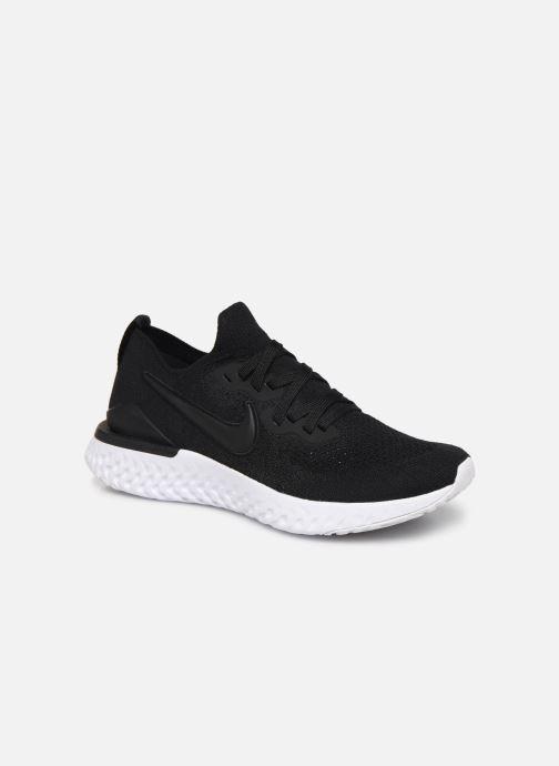 Sport shoes Nike W Nike Epic React Flyknit 2 Black detailed view/ Pair view