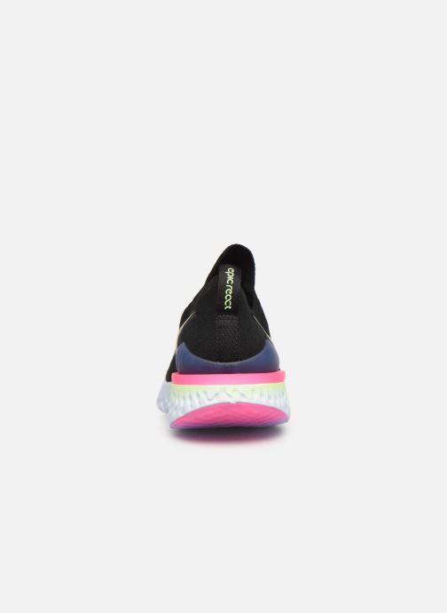 Chaussures de sport Nike Nike Epic React Flyknit 2 Noir vue droite
