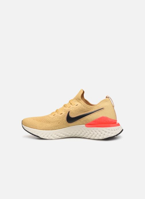 Sportschoenen Nike Nike Epic React Flyknit 2 Goud en brons voorkant