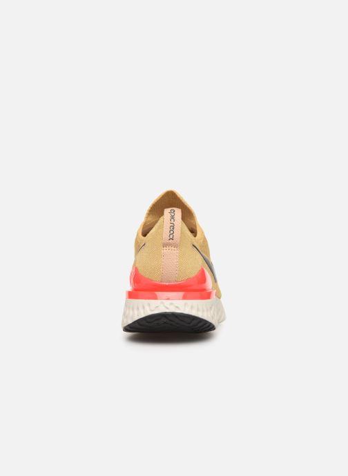 Sportschoenen Nike Nike Epic React Flyknit 2 Goud en brons rechts