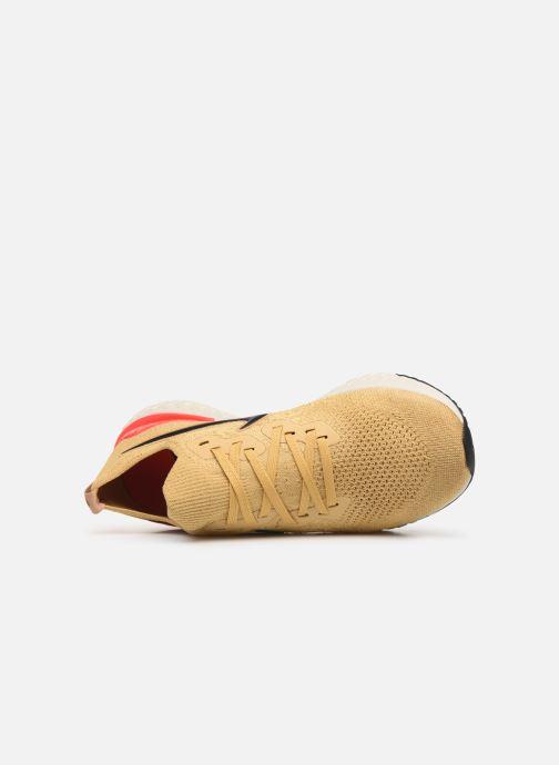 Sportschoenen Nike Nike Epic React Flyknit 2 Goud en brons links