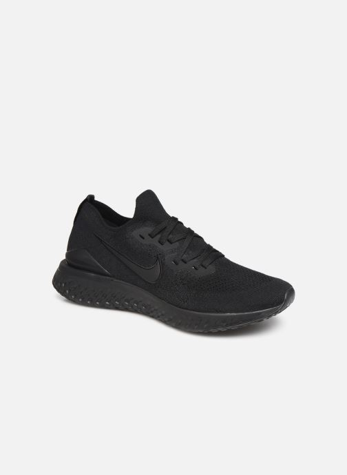 Sport shoes Nike Nike Epic React Flyknit 2 Black detailed view/ Pair view