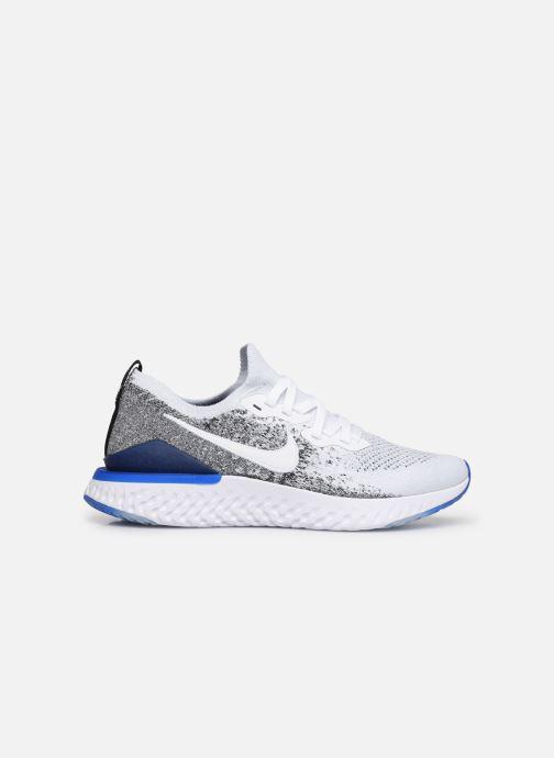 Sportssko Nike Nike Epic React Flyknit 2 Hvid se bagfra
