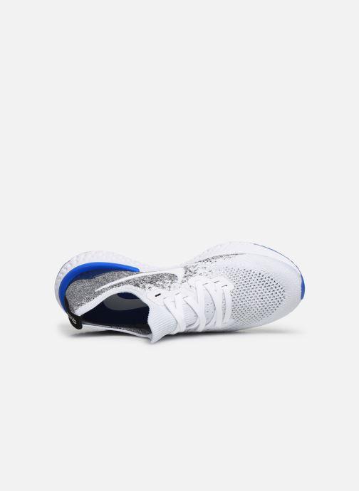 Sportssko Nike Nike Epic React Flyknit 2 Hvid se fra venstre