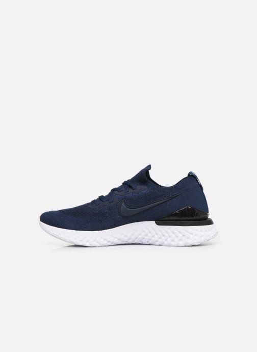 Chaussures de sport Nike Nike Epic React Flyknit 2 Bleu vue face