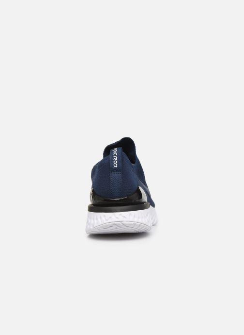 Sportskor Nike Nike Epic React Flyknit 2 Blå Bild från höger sidan