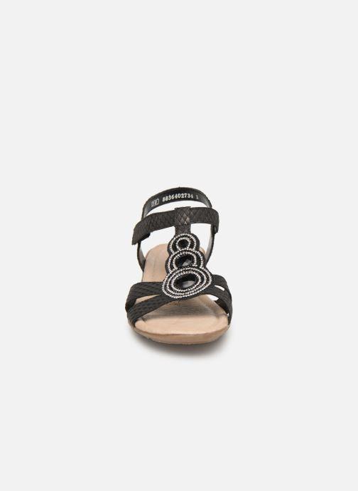 Sandales et nu-pieds Remonte Maria Noir vue portées chaussures