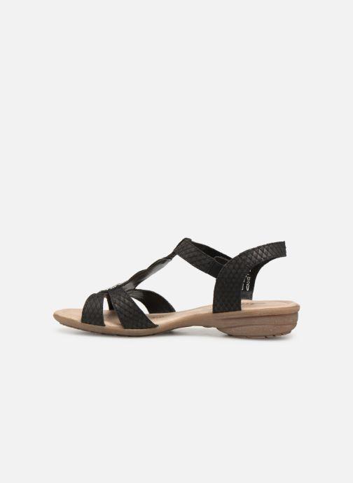 Sandales et nu-pieds Remonte Maria Noir vue face