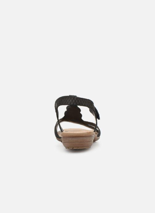 Sandales et nu-pieds Remonte Maria Noir vue droite