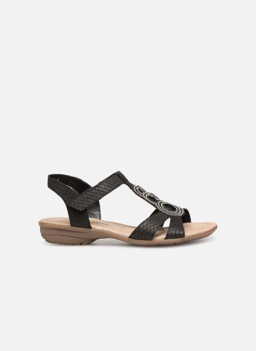 Sandales et nu-pieds Remonte Maria Noir vue derrière