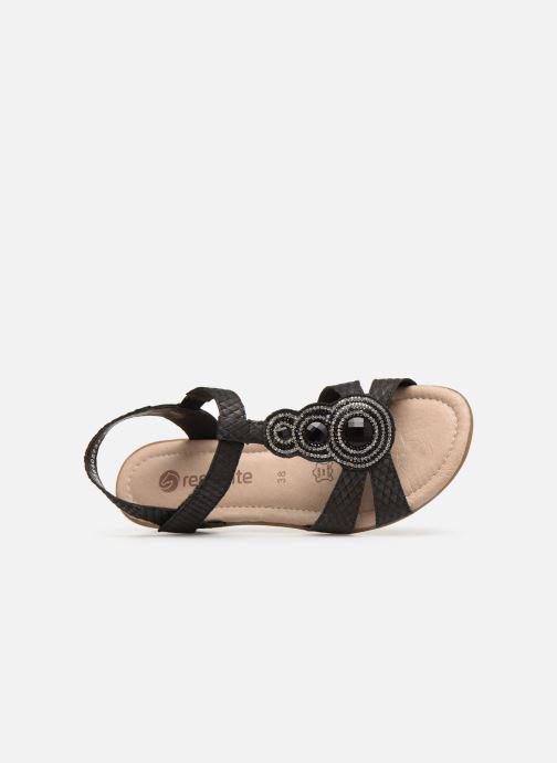 Sandales et nu-pieds Remonte Maria Noir vue gauche