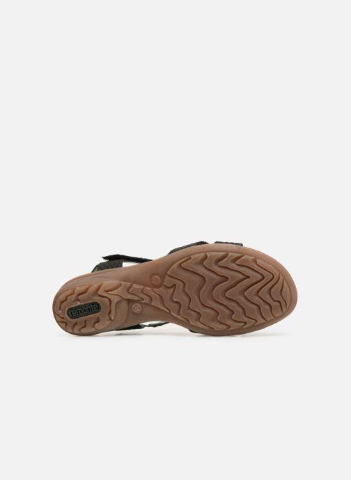 Sandales et nu-pieds Remonte Maria Noir vue haut