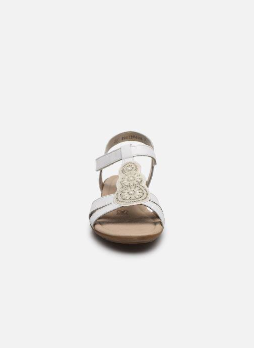 Sandales et nu-pieds Remonte Maria Blanc vue portées chaussures