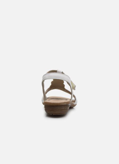 Sandales et nu-pieds Remonte Maria Blanc vue droite