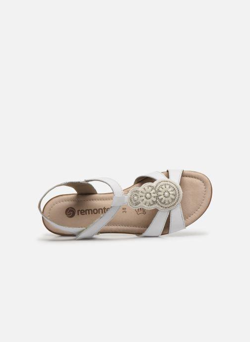 Sandales et nu-pieds Remonte Maria Blanc vue gauche
