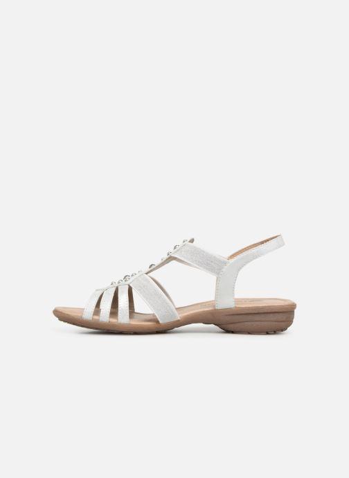 Sandales et nu-pieds Remonte Adaline Blanc vue face
