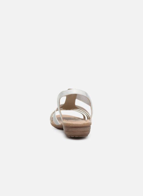 Sandales et nu-pieds Remonte Adaline R3650 Blanc vue droite