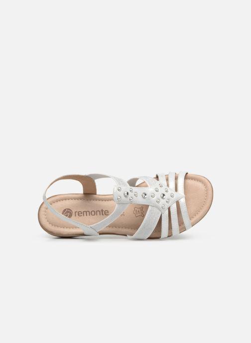 Sandales et nu-pieds Remonte Adaline R3650 Blanc vue gauche