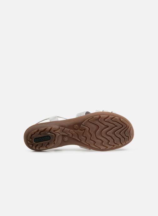 Sandales et nu-pieds Remonte Adaline Blanc vue haut
