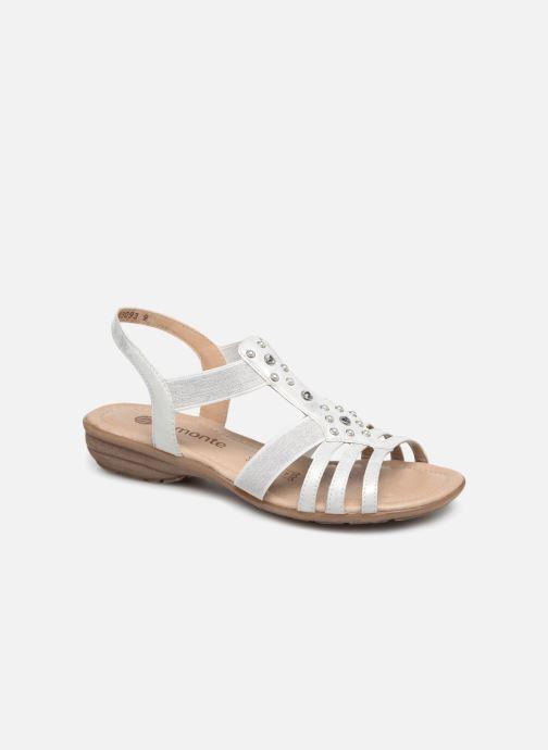 Sandales et nu-pieds Remonte Adaline Blanc vue détail/paire