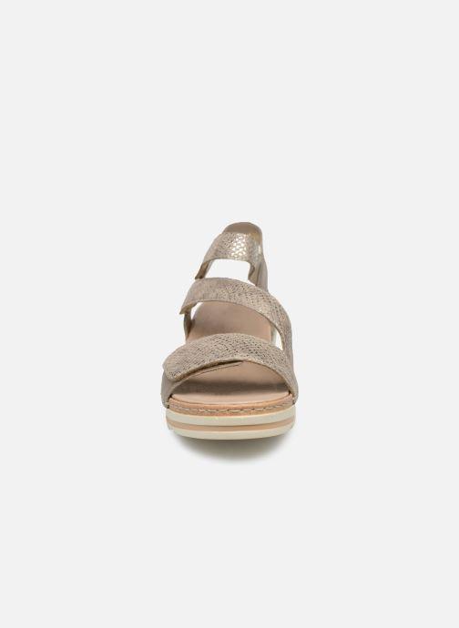 Sandales et nu-pieds Remonte Grizy R6057 Gris vue portées chaussures