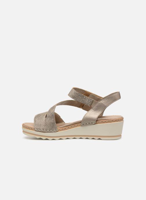 Sandales et nu-pieds Remonte Grizy R6057 Gris vue face