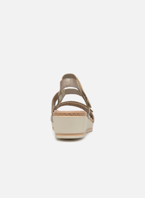 Sandales et nu-pieds Remonte Grizy R6057 Gris vue droite