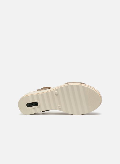 Sandales et nu-pieds Remonte Grizy R6057 Gris vue haut
