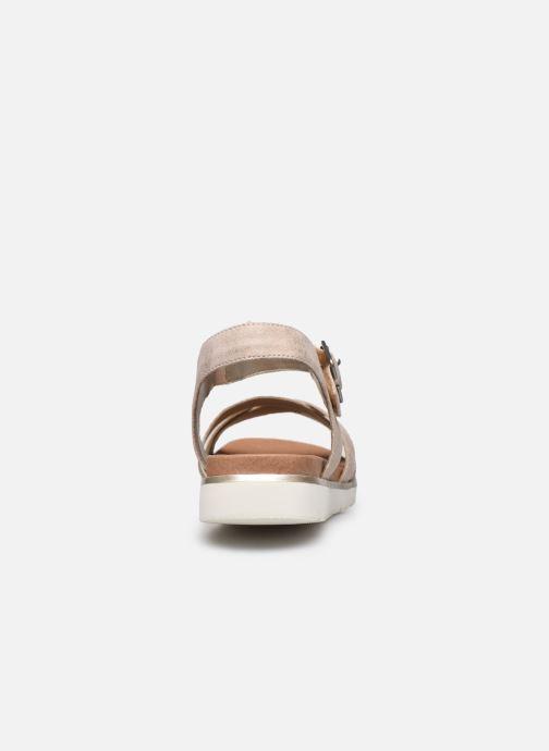 Sandales et nu-pieds Remonte Nela Beige vue droite