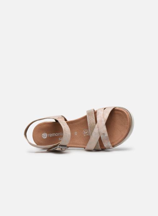 Sandales et nu-pieds Remonte Nela Beige vue gauche