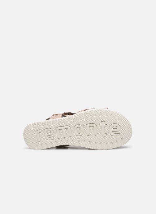 Sandales et nu-pieds Remonte Nela Beige vue haut