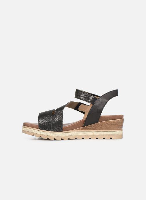 Sandales et nu-pieds Remonte Irina D6358 Noir vue face