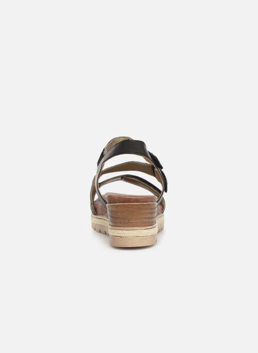 Sandales et nu-pieds Remonte Irina D6358 Noir vue droite