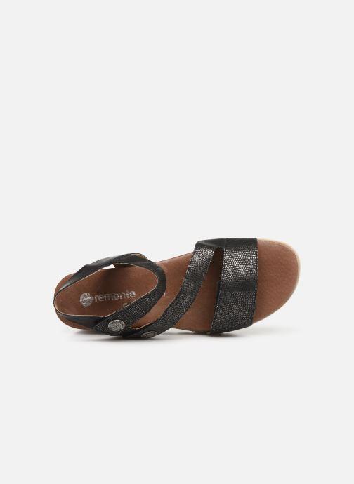 Sandales et nu-pieds Remonte Irina D6358 Noir vue gauche