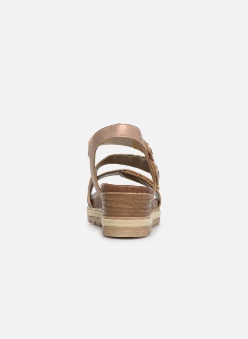 Sandales et nu-pieds Remonte Irina D6358 Rose vue droite