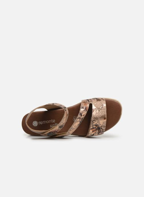 Sandales et nu-pieds Remonte Irina D6358 Rose vue gauche