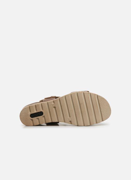 Sandales et nu-pieds Remonte Irina D6358 Rose vue haut